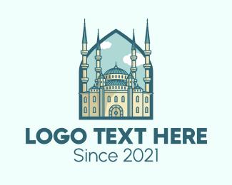 Minaret - Hagia Sophia Landmark logo design