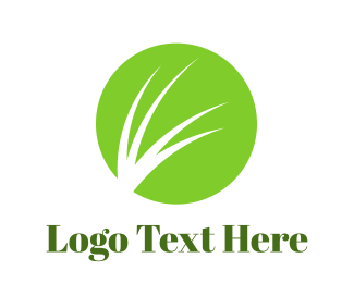Grass - Green Grass Circle logo design
