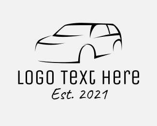 Auto Detailer - Black SUV Car logo design