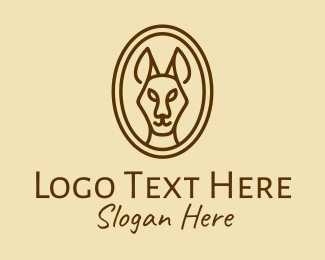 Woodland - Brown Kangaroo logo design