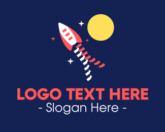 Takeoff - Zipper Space Rocket logo design