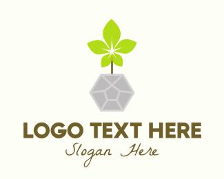 Planter - Natural Pot Gardening logo design