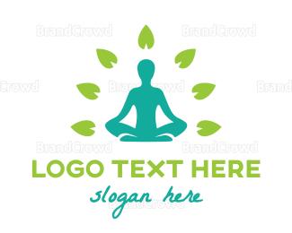 Meditation - Zen Leaf logo design