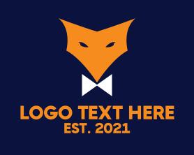 Jackal - Fox Bow Tie logo design