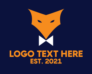 Coyote - Fox Bow Tie logo design