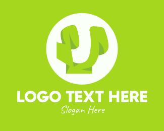 Letter U - Green Letter U logo design