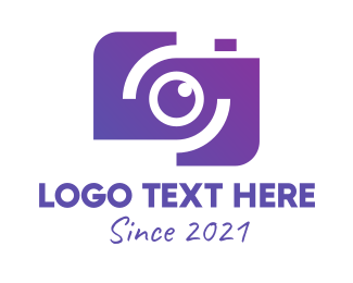 Purple Camera - Violet Youtube Camera logo design
