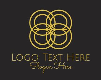 Quadcopter - Line Circles logo design