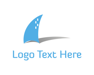 Shark - Blue Boat logo design
