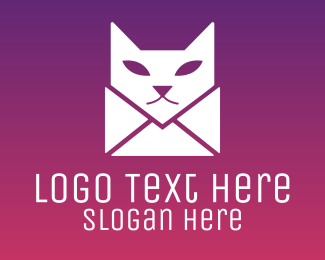 Mail - Cat Mail  logo design