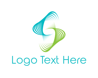 Curve - Motion Waves logo design