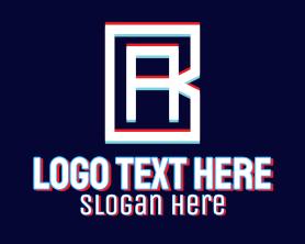 App - Static Motion Letter AB logo design
