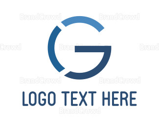 Website - Blue Letter G logo design