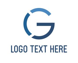 Earth - Blue Letter G logo design