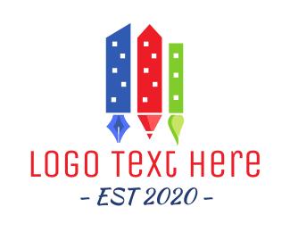 Paintbrush - Art City logo design