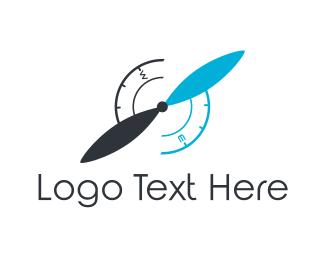 Navigate - Compass Propeller logo design
