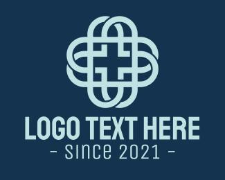 Medical Instrument - Health Care Cross logo design