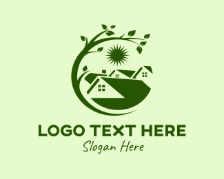 Roofing Service - Green Nature Home logo design
