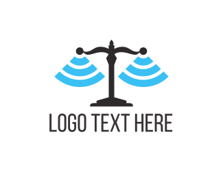 Attorney And Legal Justice Signal logo design
