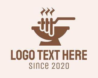 Barbecue - Brown Barbecue Grill logo design