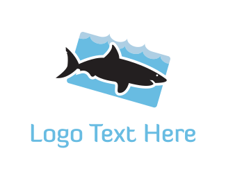Shark - Black Shark  logo design