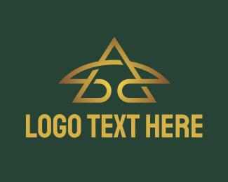 A - Golden A Star logo design
