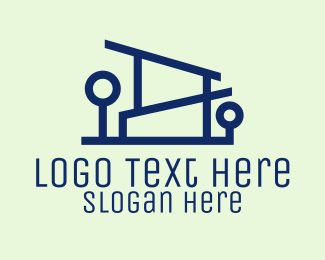 Landscape Design - Minimalist House Design  logo design
