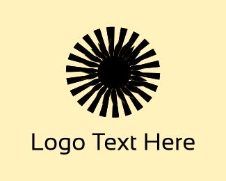 Hip Hop - Black Flower logo design