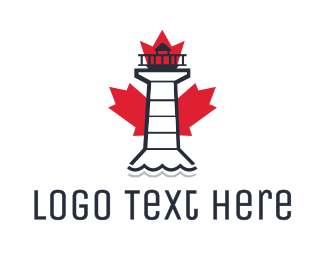 Coast Guard - Canadian Lighthouse logo design