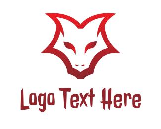 Hell - Demon Face Outline logo design