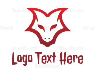 Dinosaur - Demon Face Outline logo design