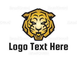 No - Golden Tiger logo design