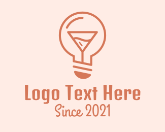Night Out - Cocktail Lightbulb  logo design