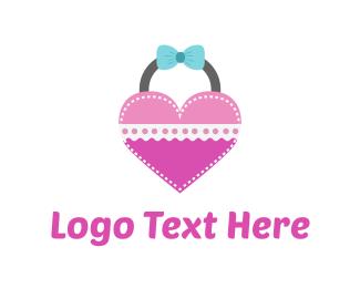 Handbag - Heart Bag logo design