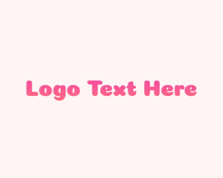 Text - Gradient Pink Text logo design