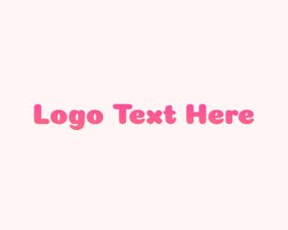 Text - Gradient Pink Text logo design