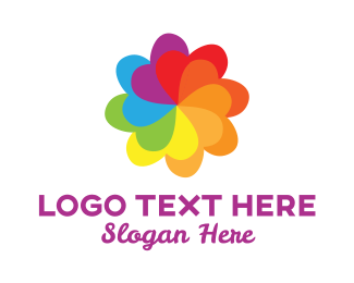 Jolly - Rainbow Heart Pattern logo design