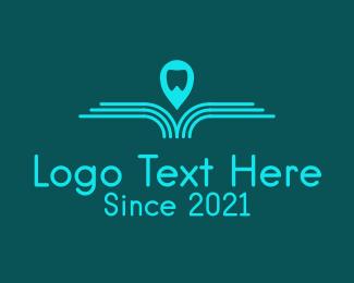 Orthodontics - Blue Dental Navigation logo design