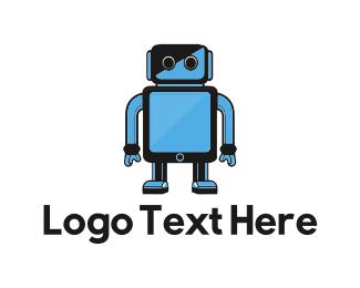 Cyborg - Blue Robot logo design