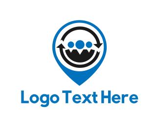 Gps - People Locator logo design