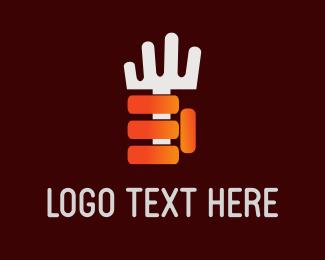 Eating - White Fork logo design