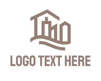 Outlines - Abstract City logo design