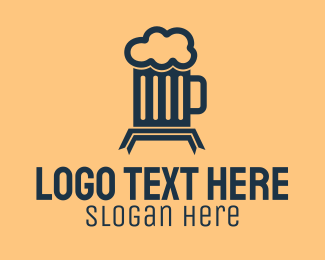 Mug - Full Beer Mug  logo design