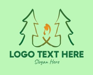 Pine - Pine Tree Forest Camp logo design