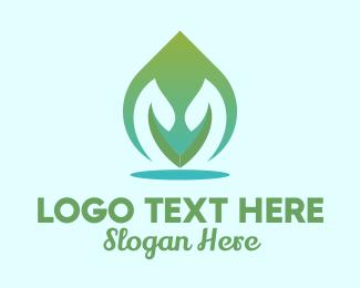 Thai Massage - Organic Leaf Spa  logo design