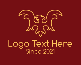 Authority - Royal Falcon Outline logo design