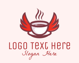 Coffee Cup - Coffee Wings logo design