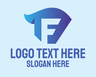 Startup - Blue Business Letter F logo design
