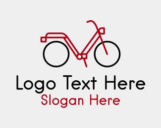 Pedaling - Bike Tour Line Art  logo design