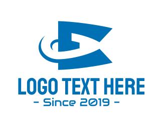 Vaping - Blue Vaping E logo design